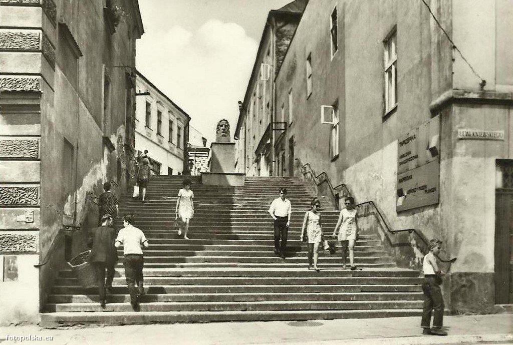 Ul Wielkie Schody Schodowa Tarnow 1976 Rok Stare Zdjecia