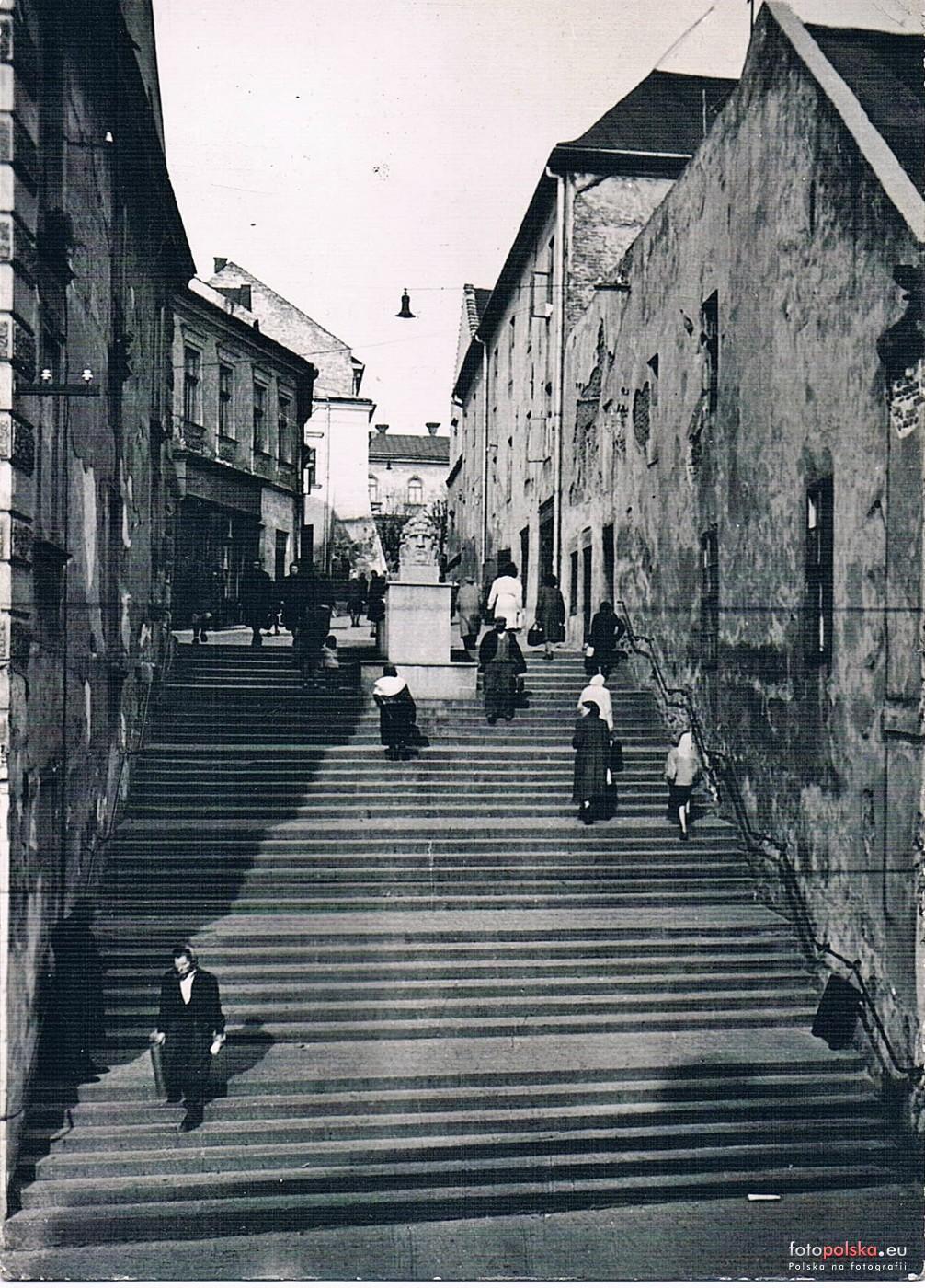 Ul Wielkie Schody Schodowa Tarnow 1962 Rok Stare Zdjecia